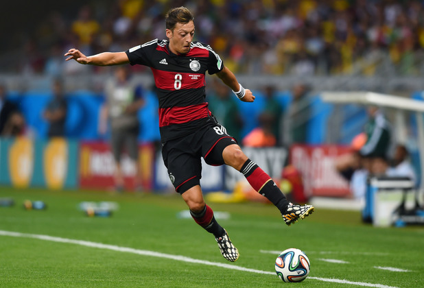 Mesut Oezil of Germany during the 2014 FIFA World Cup Brazil Semi Final