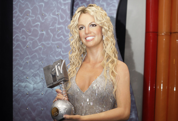 A new waxwork of US singer Britney Spears, holding an MTV Award, is launched at Madame Tussauds in London, Monday, Feb. 16, 2009. Spears joins Christina Aguilera, Amy Winehouse and Justin Timberlake in the attraction's music zone. (AP Photo/Joel Ryan)