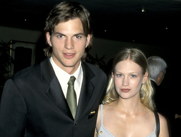7th Annual Race to Erase MS Gala Caption:Ashton Kutcher and January Jones (Photo by Jim Smeal/WireImage)
