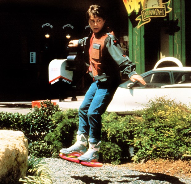 Michael J Fox in Back To The Future Part II - 1989