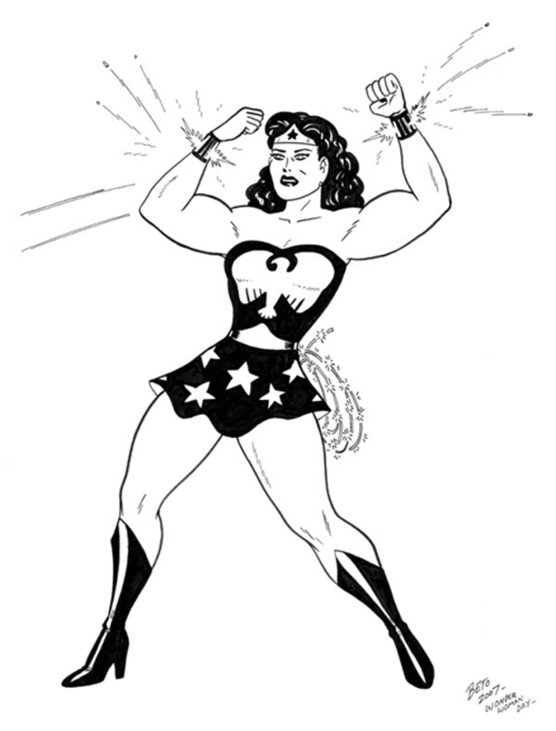 Gilbert Hernandez Wonder Woman sketch