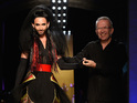 Eurovision winner's magnificent catwalk debut for Jean Paul Gaultier at Fashion Week.