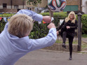 Shirley and Sharon go head-to-head as football rivals in the new promo.