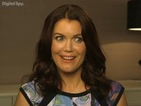 "Bellamy Young tells us about Mellie getting ""dirty"" when she hits the hooch."