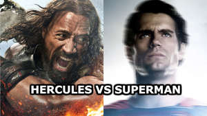 Dwayne Johnson on the outcome of a Hercules vs Superman fight