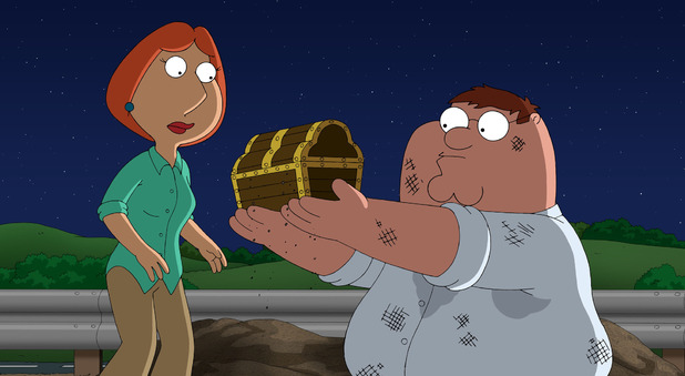 Lois & Peter in Family Guy S12E01: 'Finders Keepers'