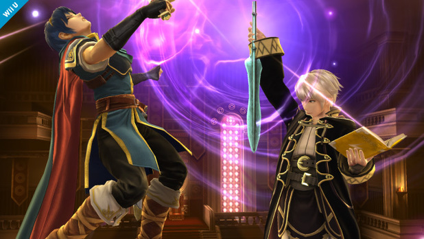 Chrom and male Robin in Super Smash Bros.