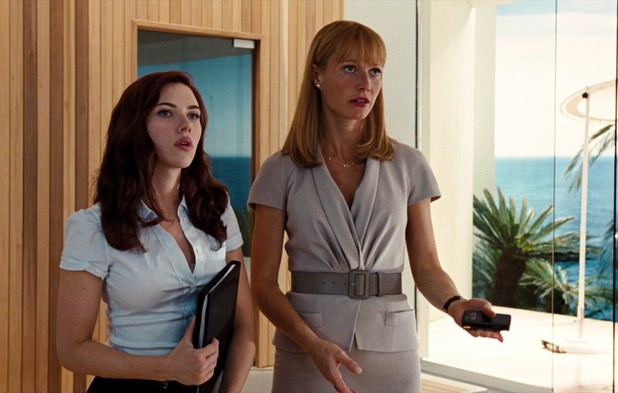 Natasha Romanoff and Pepper Potts in Iron Man 2