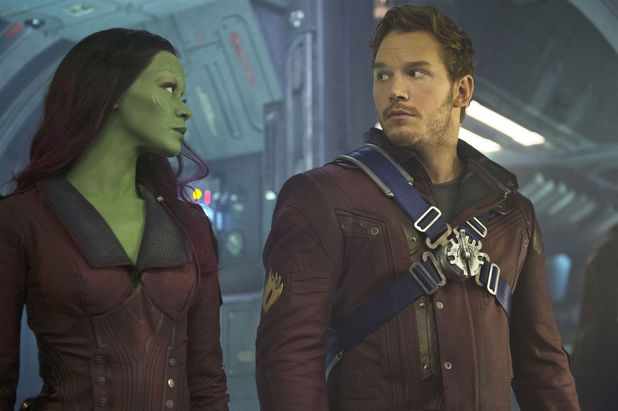 Zoe Saldana Gamora Chris Pratt Star-Lord