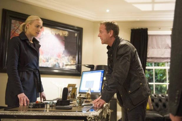 Kiefer Sutherland as Jack Bauer & Yvonne Strahovski as Kate in 24: Live Another Day episode 12: '10:00PM - 11:00AM'