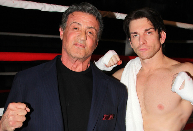 Sylvester Stallone and Andy Karl at the first preview of the Rocky Broadway musical