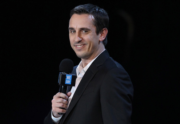 Gary Neville on stage for We Day UK