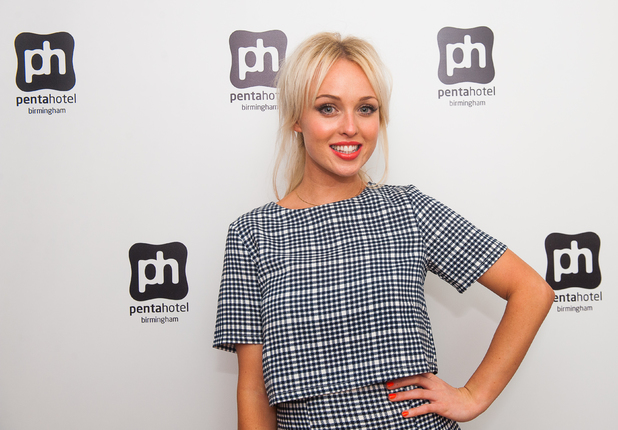 Jorgie Porter at the Pentahotel Birmingham launch