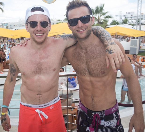 Danny Jones and Harry Judd at Ocean Beach Ibiza