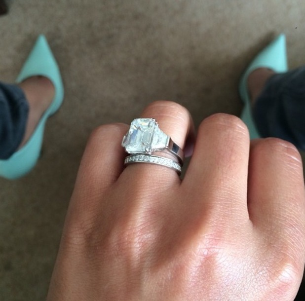 Cheryl Cole posts a picture of her wedding ring on Instagram