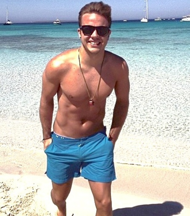 Mario Gotze on the beach