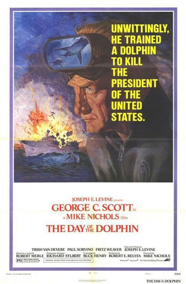 "The Day of the Dolphin (1973) - ""Unwittingly, he trained a dolphin to kill the President of the United States."""