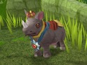 Players of the online game can unlock rhinos as pets to boost their experience.