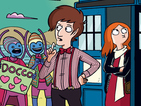 Marc Ellerby working on Doctor Who: The Eleventh Doctor backups