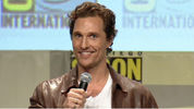 Matthew McConaughey makes his Comic-Con debut to introduces the new trailer for Interstellar.