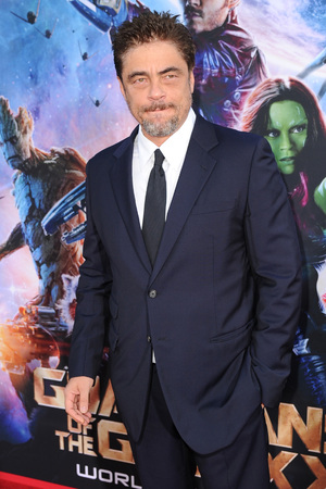 HOLLYWOOD, CA - JULY 21: Actor Benicio Del Toro attends the premiere of Marvel's 'Guardians Of The Galaxy' at the Dolby Theatre on July 21, 2014 in Hollywood, California. (Photo by Kevin Winter/Getty Images)