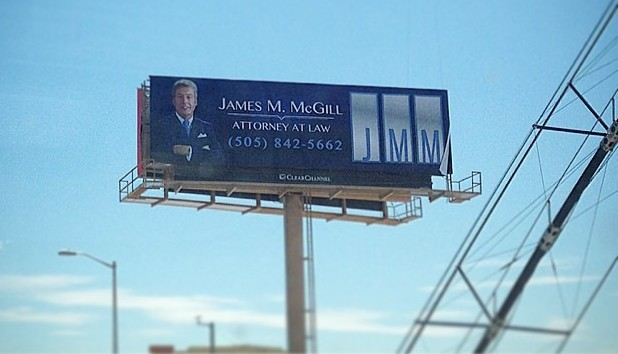A real life Better Call Saul billboard