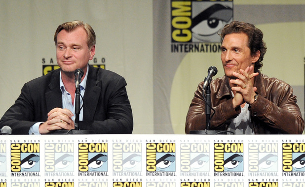 Christopher Nolan and Matthew McConaughey attend the Paramount Studios presentation during Comic-Con International 2014