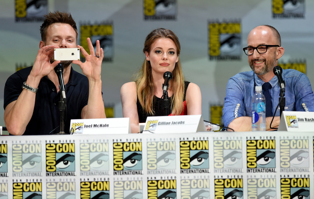 Joel McHale, Gillian Jacobs and Jim Rash attend 'Community' panel during Comic-Con International 2014