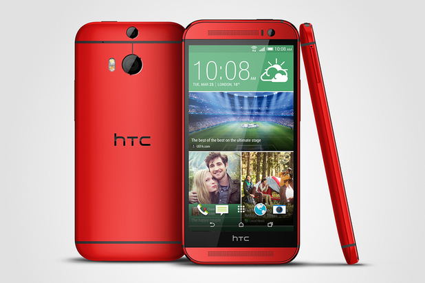 Red model of the HTC One M8