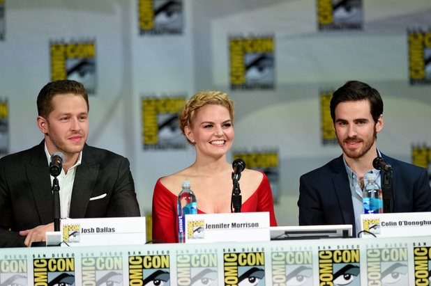 Josh Dallas, Jennifer Morrison, Colin O'Donoghue and attend ABC's 'Once Upon A Time' panel during Comic-Con