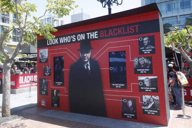 'The Blacklist' Installation at Tin Fish at Comic-Con 2014