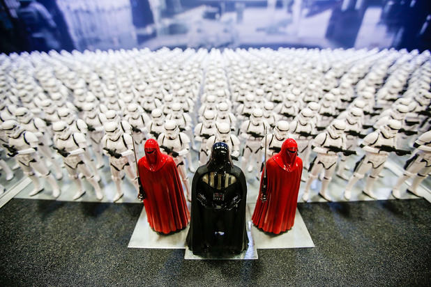 A display of Star Wars action figures was a popular attraction during Comic-Con