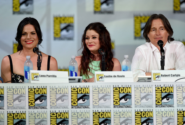Actors Lana Parrilla, Emilie de Ravin and Robert Carlyle attend ABC's 'Once Upon A Time' panel