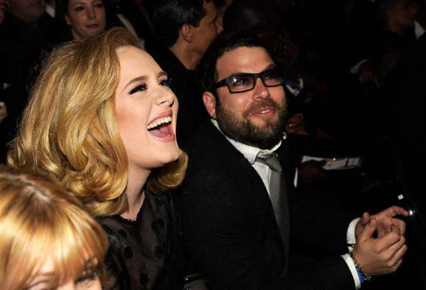 Adele and Simon Konecki at the 2012 Grammys