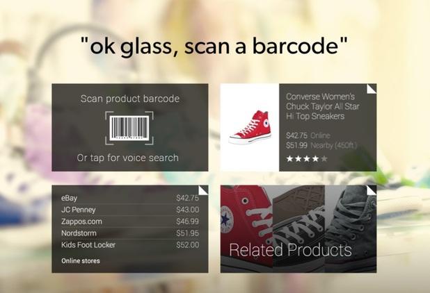 RedLaser app for Google Glass