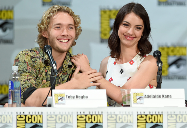 Toby Regbo and Adelaide Kane attend CW's 'Reign' exclusive premiere screening & panel during Comic-Con International 2014
