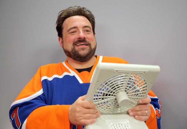 Kevin Smith attends the Movies On Demand 'Tusk' interviews during Comic-Con International 2014 - Day 2