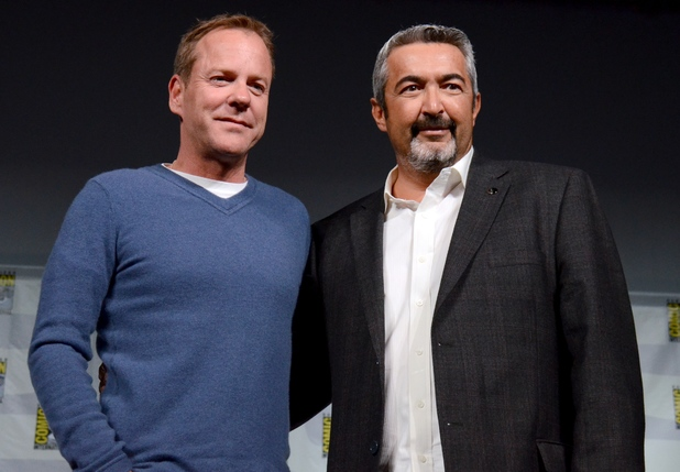 "Kiefer Sutherland and Jon Cassar attend the ""24"" Q&A panel on Day 1 of Comic-Con International"