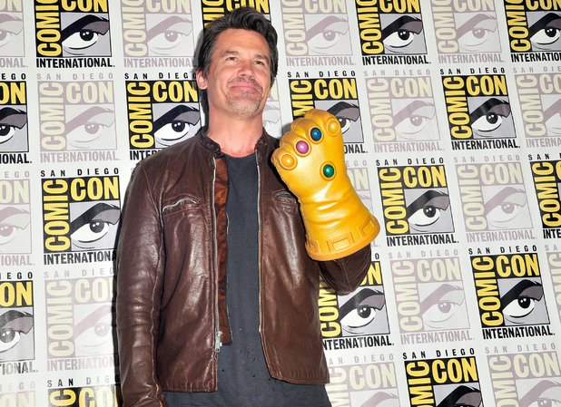 Josh Brolin attends Marvel's press line during Comic-Con