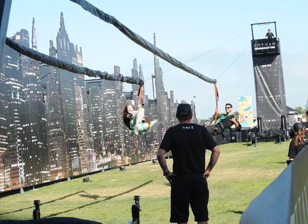 The Gotham zipline at Comic-Con International 2014