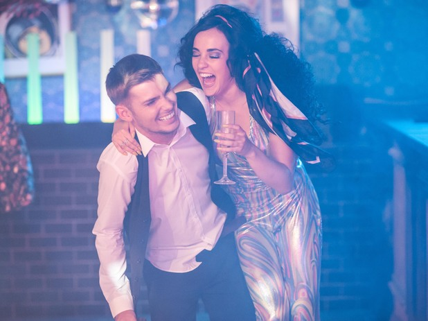 Ste and Sinead enjoy the disco