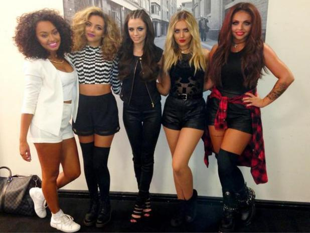 Little MIx, Cher Lloyd post Twitter pic.