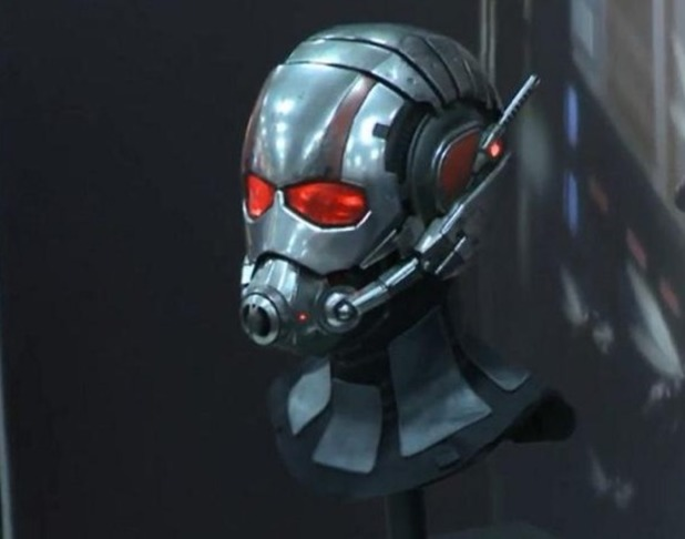 Paul Rudd's Ant-Man helmet at Comic-Con