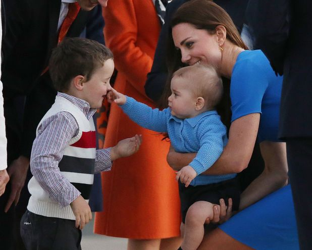 Prince George meets his public
