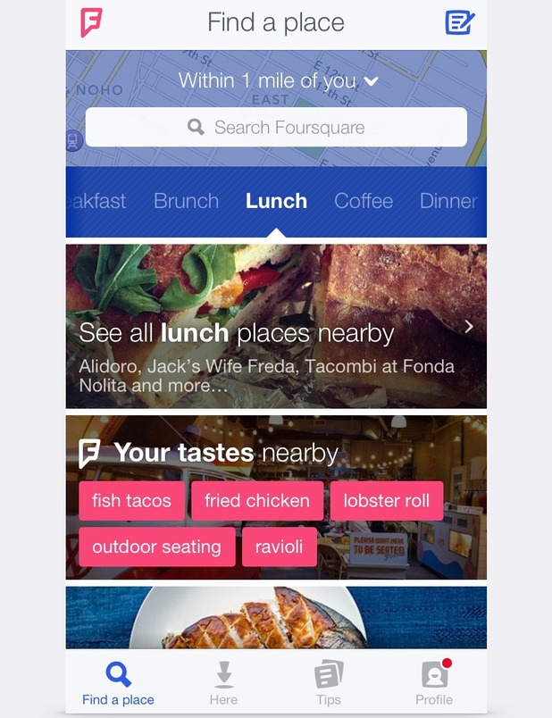 New look Foursquare