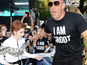 Vin Diesel wears stilts to Guardians premiere