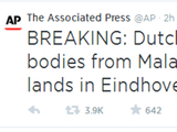 AP Malaysian Airlines 'crash lands' tweet