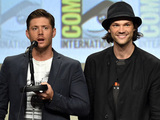 Jensen Ackles and Jared Padalecki attend CW's 'Supernatural' Panel during Comic-Con