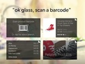 Glass application lets users perform stealthy price comparisons in stores.