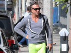 See Mickey Rourke's eye-catching neon sports attire and continued weight loss.
